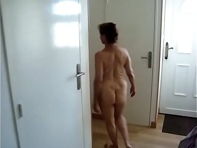 shower time for mature voyeur