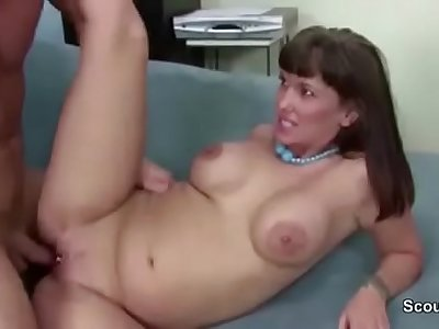 MILF Boss Seduce Big Cock Employer to Fuck in Casting