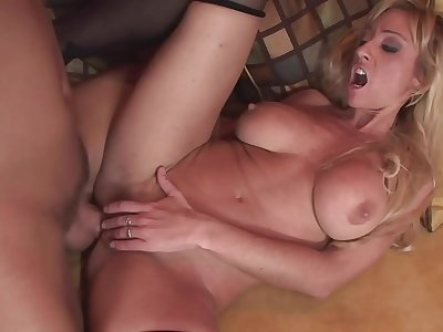 Mom allow me to fuck here anal in doggy and cum on here perfect asshole