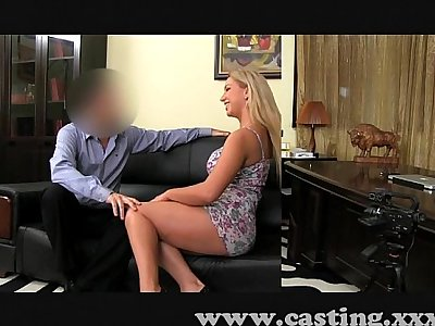 Casting Huge natural tits babe in casting