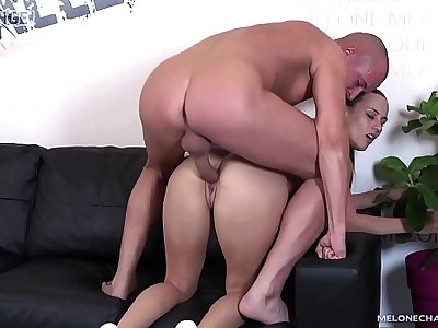 Melonechallenge Awesome creampie after perfect hard fuck with Mea Melone