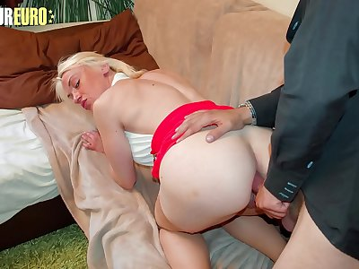 AMATEUR EURO - Blonde MILF Gets Ass Fucked By Her New Friend - Cameron St. Claire