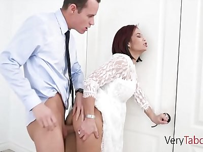 Mom is ready to fuck Stepson after divorce! NAUGHTY MOMS